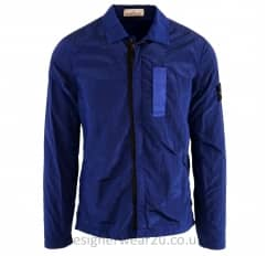 Stone Island Nylon Metallic Overshirt in Blue
