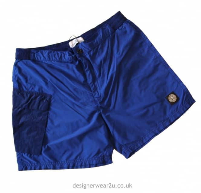 d60951bd8afa S.Island Stone Island Blue Nylon Swimshorts - Shorts And Swimwear ...