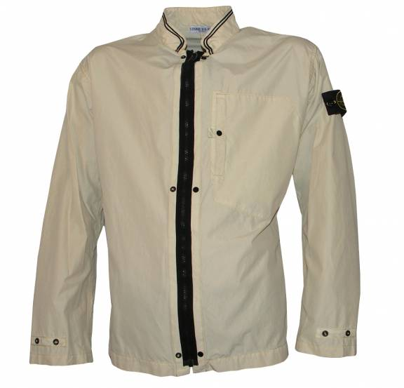 Stone Island Cream Lightweight Jacket - Jackets from DesignerWear2U UK