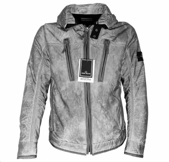 cc8b5eaf80b S.Island Stone Island Grey Liquid Reflective Jacket