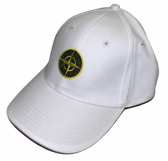 White Logo Baseball Cap Stone Island DCPymMA