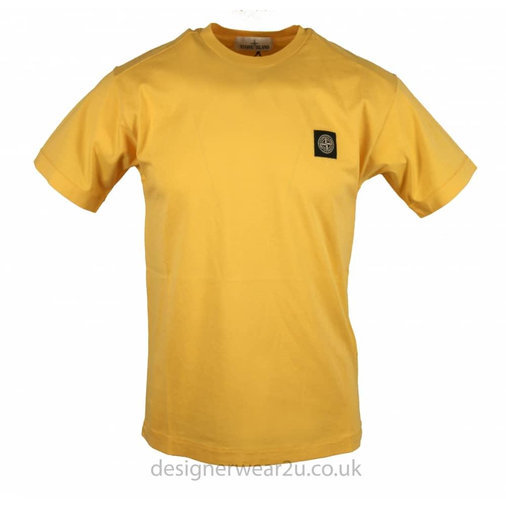 6cb24938d4706 S.Island Stone Island Yellow T-Shirt With Logo Patch - Holiday Shop from  DesignerWear2U UK